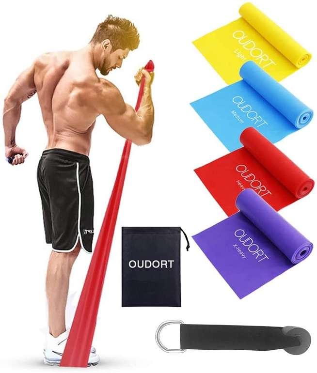 Oudort 4er Set Fitnessbänder für 8,49€ inkl. Prime Versand (statt 13€)