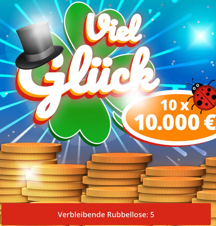 Lottohelden - 50% Rabatt auf 10 Rubbellose - 0,50€ je Los