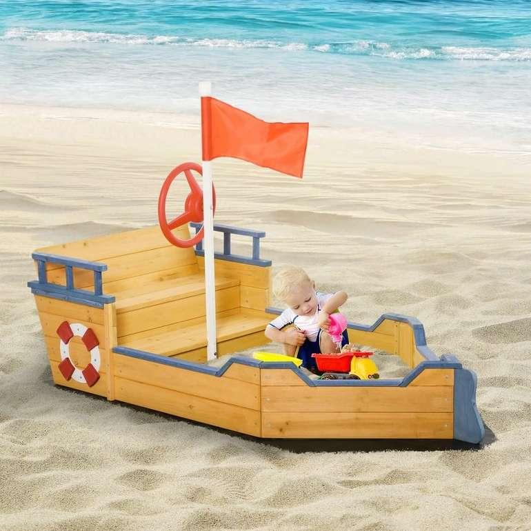Outsunny Sandkasten Piratenschiff (158x78x45,5cm) für 71,99€ inkl. Versand (statt 84€)