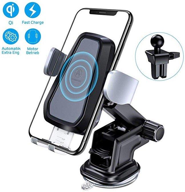 Vanmass Auto-Handyhalterung mit 10W Qi Wireless Charger für 31,24€ inkl. Versand