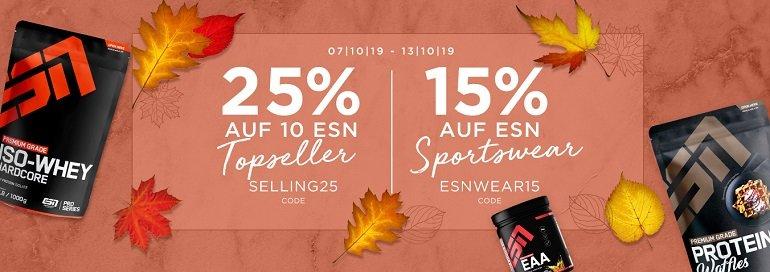 Fitmart 25% Rabatt auf 10 ESN Topseller