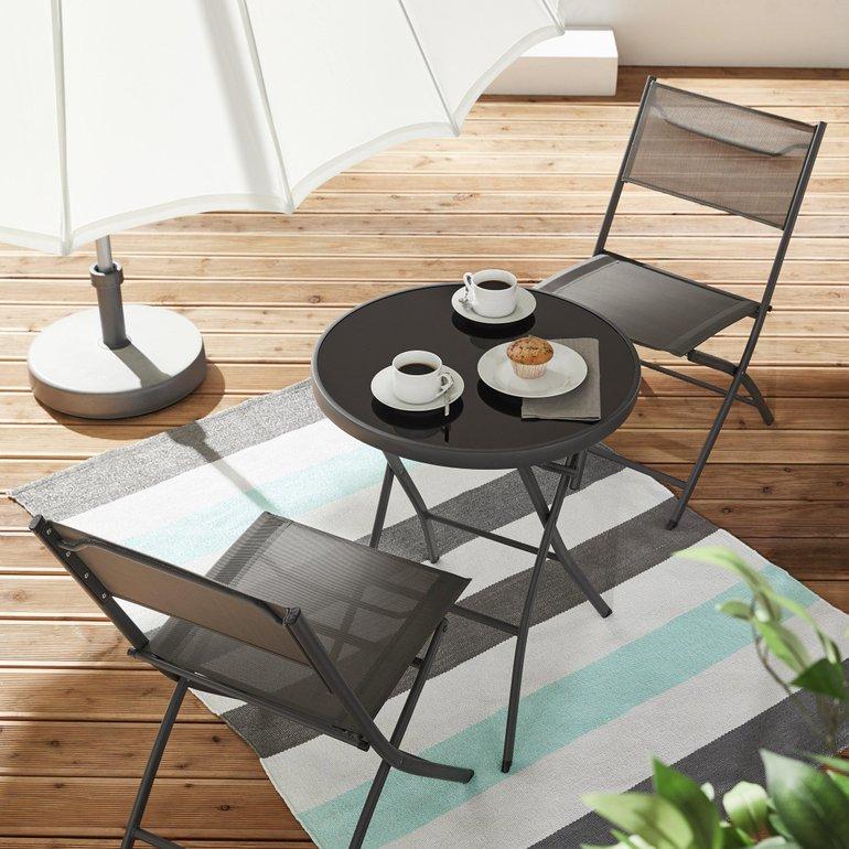 3-teiliges Gartenset Ana (2 Stühle + Tisch) für 57,85€ inkl. VSK