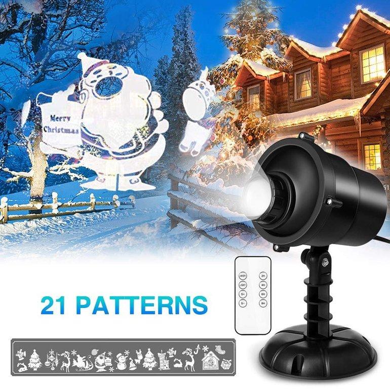 LED Projektorlampen mit Weihnachtsbeleuchtung ab 10,80€ mit Primeversand