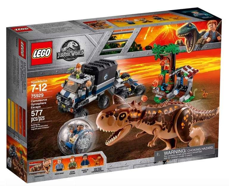 Lego Jurassic World: Carnotaurus - Flucht in der Gyrosphere (75929) für 53,39€ (statt 78€)