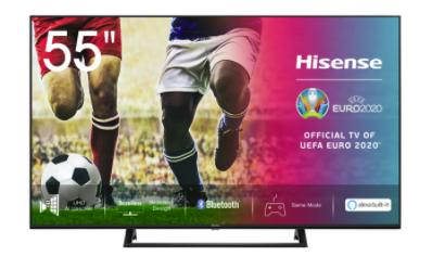 Hisense 5AE7200F Fernseher mit 55 Zoll (4K/UHD, LED, Smart TV) für 399€ inkl. Versand (statt 449€)