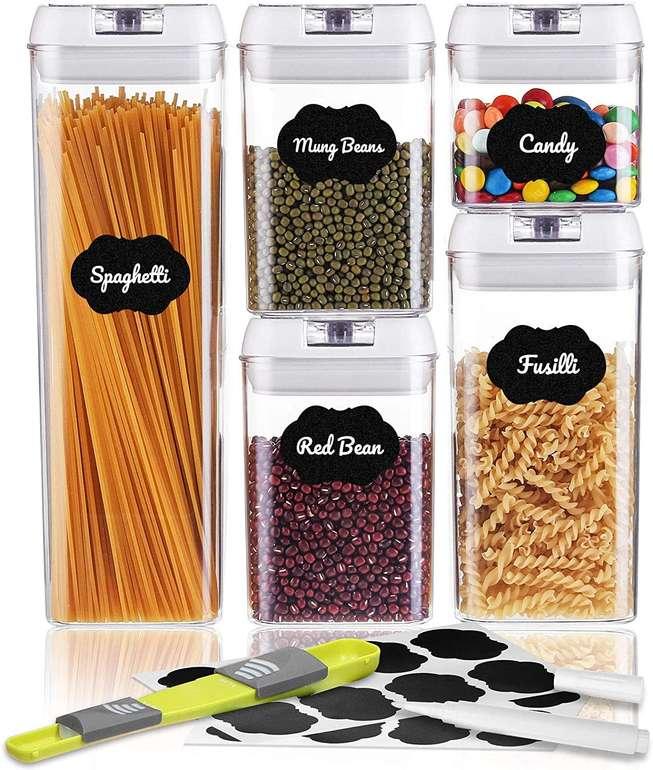 Sawake 5-teiliges Vorratsdosen Set (inkl. Deckel & Aufkleber) für 20,29€ inkl. Prime Versand