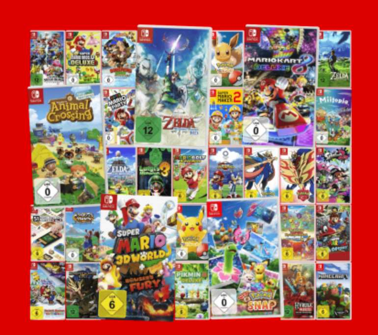 """""""3 für 111€""""-Aktion Nintendo Switch-Spiele: z.B. Super Smash Bros, Mario Golf und Zelda Skyward Sword"""