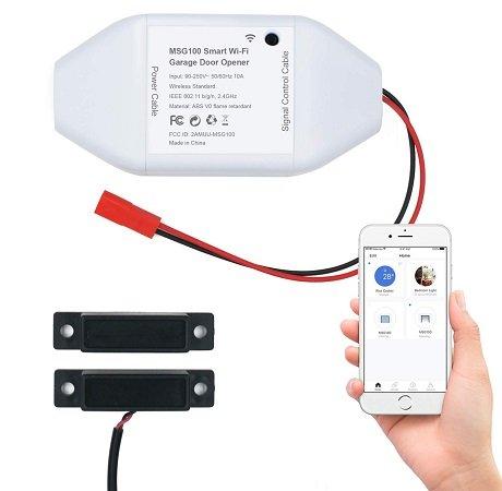 meross Smart WLAN Garagentoröffner (Alexa & Google Home komptl.) für 31,99€