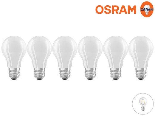 6x Osram LED Superstar A25, matt, dimmbar für 20,90€ (statt 30€)