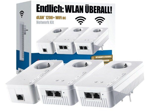 Devolo DLAN 1200+ WiFi AC Network Kit für 189€ inkl. VSK (statt 222€)
