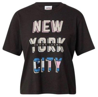 Tommy Jeans T-Shirt in Mischfarben/Schwarz für 31,92€ inkl. Versand (statt 40€)