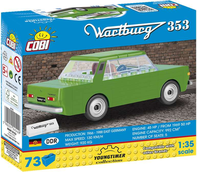 Cobi Youngtimer Collection - Wartburg 353 (24542) für 7€ bei Abholung (statt 13€)