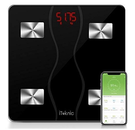 iTeknic - Digitale Glas-Körperfettwaage für 20,99€ inkl. VSK (Prime)
