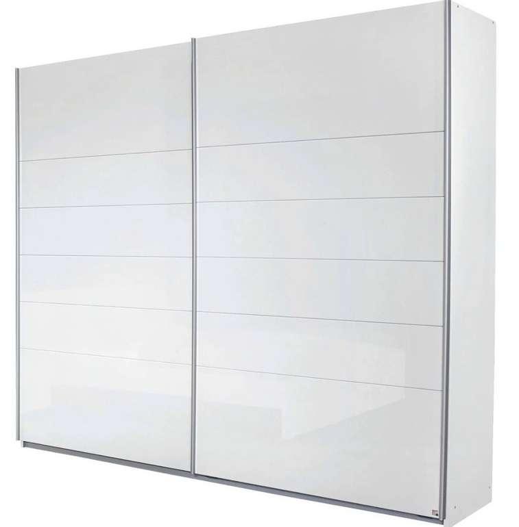 Modern Living Schwebetürenschrank in Weiß Hochglanz (225cm breit) für 389,25€ (statt 540€)
