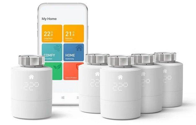 tado° Heizkörper-Thermostat Starter Kit V3+ mit 5 Thermostaten für 229€ (statt 335€)