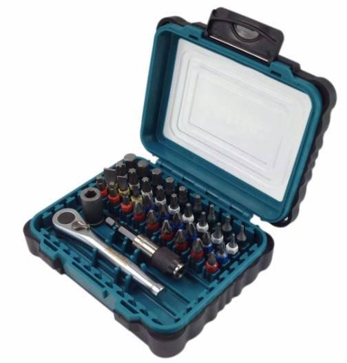 Bestpreis! 39 teiliges Makita P-79158 Bit-Set mit Ratschen Schlüssel für 23,20€