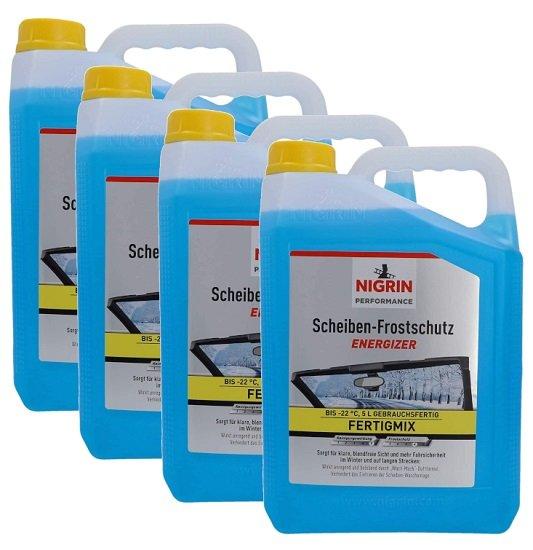 20 Liter Nigrin Scheiben Frostschutz -22°C (4 x 5 Liter) gebrauchsfertiger Scheibenreiniger für 19,99€ (statt 40€)
