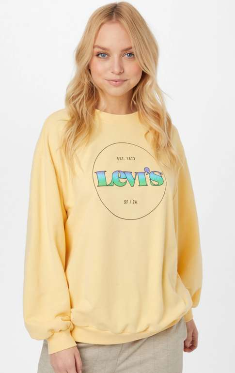 Levi's Damen Sweatshirt in Gelb für 34,90€ inkl. Versand (statt 50€)