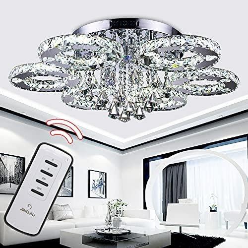 Clanmacy LED Kristall Kronleuchter mit Fernbedienung in 2 Varianten ab 97,99€ inkl. Versand (statt 140€)