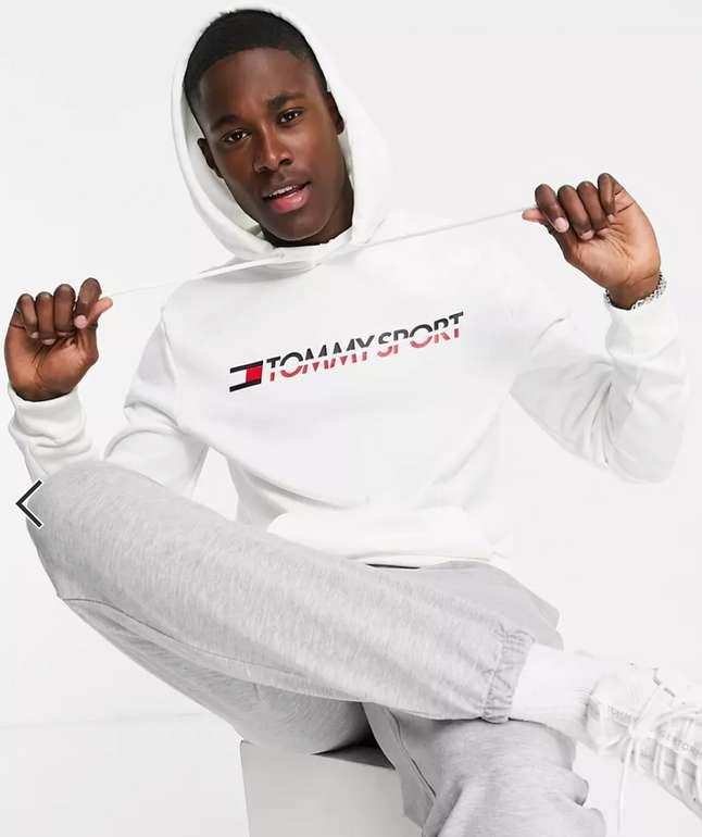 Tommy Hilfiger Sport Kapuzenpullover mit Logo in Weiß für 59,99€ inkl. Versand (statt 90€)