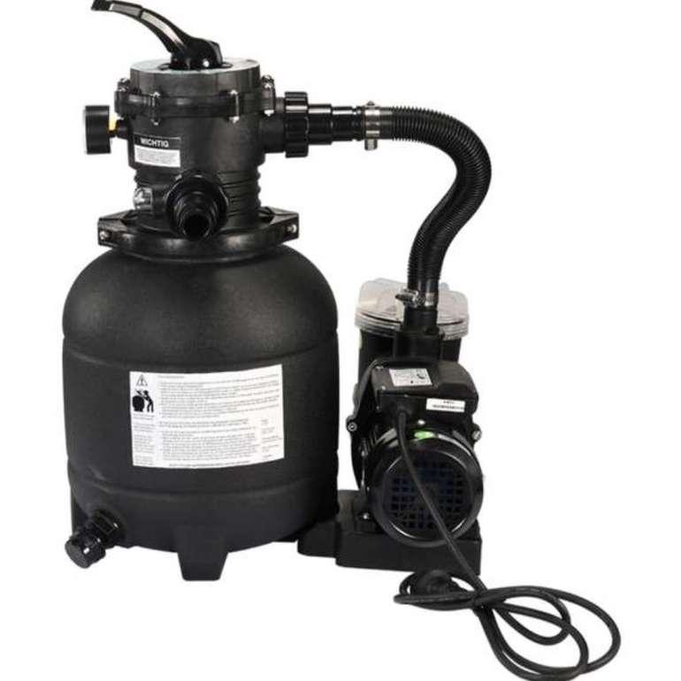 Sandfilteranlage Atrox mit 7-Wege Ventil (max. 250 Watt, 4500 Liter / Stunde) für 89,99€ (statt 100€)