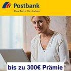 Jetzt bis zu 300€ Prämie für das Postbank Giro Extra Plus Komfort Konto sichern
