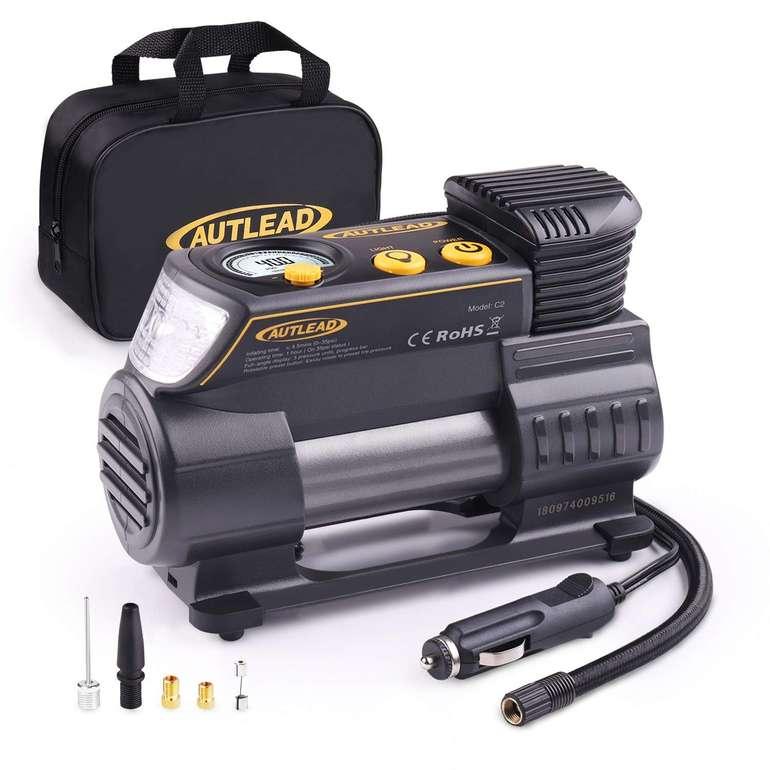 Autlead tragbarer 12 Volt Auto Luftkompressor mit LED Taschenlampe für 31,81€ (statt 43€)