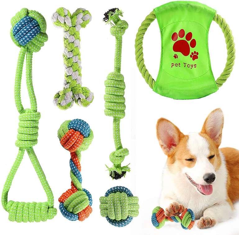 ACE2ACE 6-Teiliges Hundespielzeugset (100% Baumwolle) für 7,99€ inkl. Prime Versand (statt 14€)