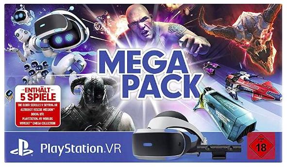 Sony PlayStation VR V2 Megapack + PlayStation Camera + 5 PS4 VR Spiele ab 259€