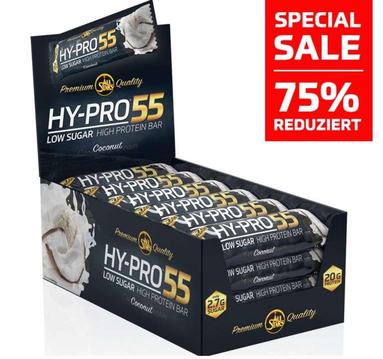 24x 55g Proteinriegel Allstars Hy-Pro 55 Cocos Whey Crisp für 13,60€ (MHD 06.09.2019)