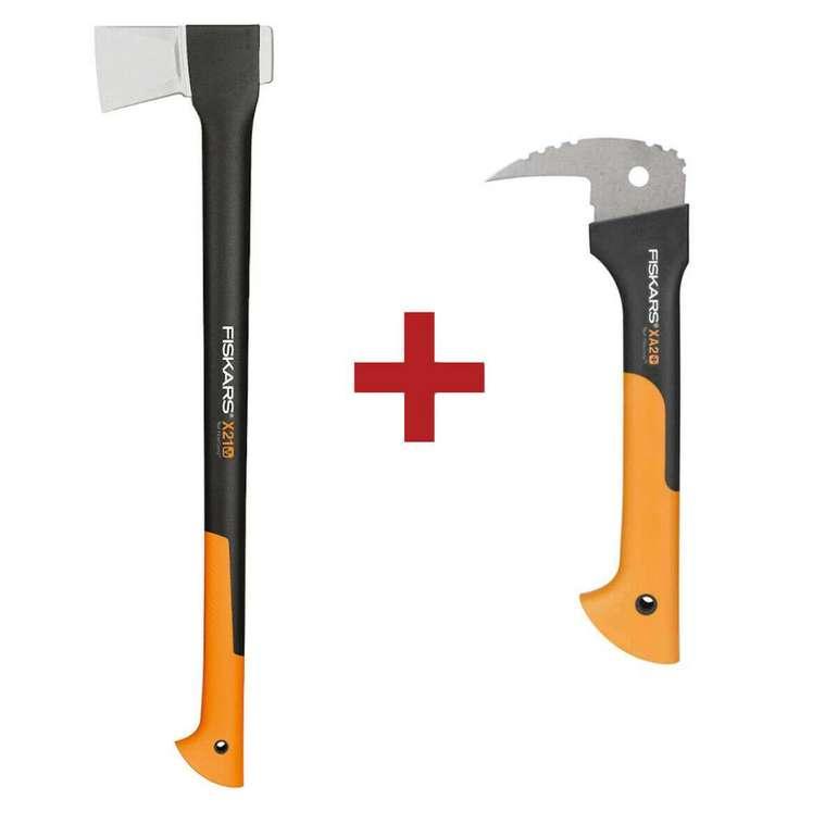 Fiskars Wood-Set X21 Spaltaxt + XA2 Sappie für 49,90€ (statt 60€)