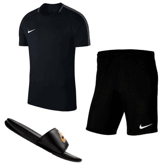 Nike Outfit 3-teilig (Shirt Academy, Short Park III,  Badesandalen) für 36,90€ inkl. Versand (statt 42€)