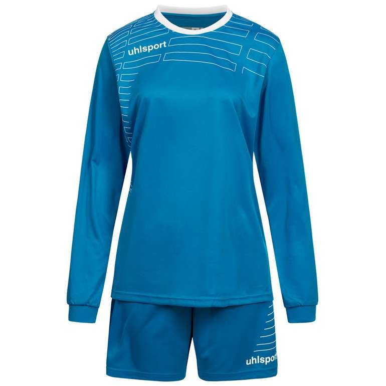 Uhlsport Match Damen Set - Langarm Trikot mit Shorts für 5,55€ zzgl. Versand (statt 11€)