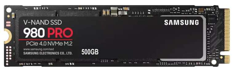 Samsung 980 PRO NVMe PCIe 4.0 (500 GB, M.2, SSD) für 119€ inkl. Versand (statt 134€) - Newsletter!