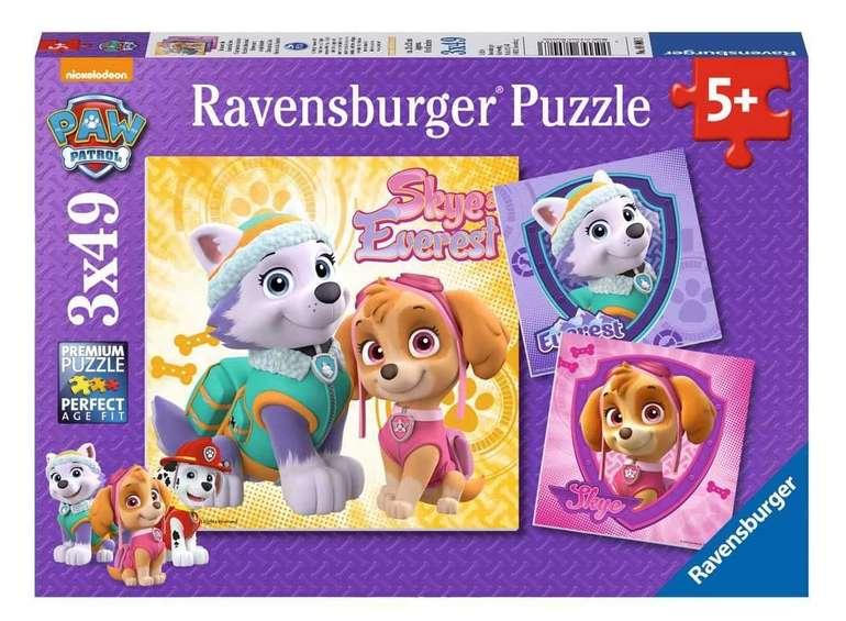 Ravensburger Kinderpuzzle 08008 Bezaubernde Hundemädchen (3 x 49 Teile) für 3,99€inkl. Prime Versand (statt 11€)