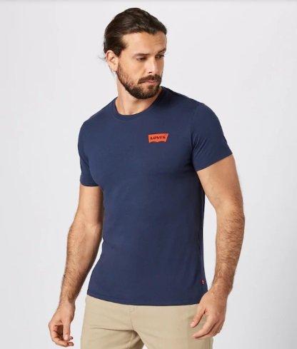 Levi's Herren T-Shirt 'Graphic Set-In Neck 2' in Blau für 16,92€ inkl. VSK