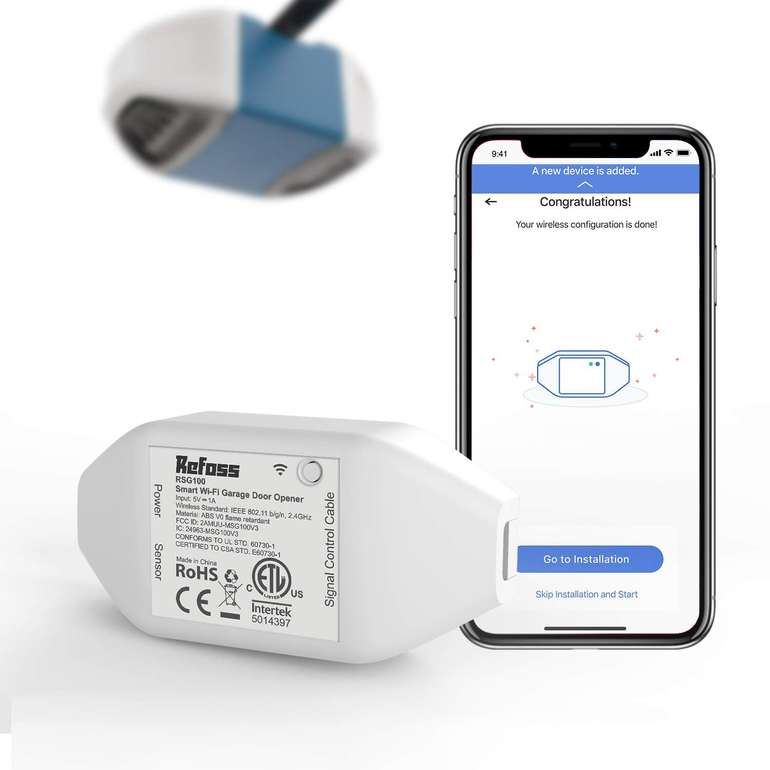 Refoss Smart Garagentoröffner (WLAN, Google Home & Alexa kompatibel) für 25,34€