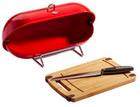 """Wesco Brotbox """"Breadboy"""" mit Schneidebrett und Brotmesser für 33,94€"""