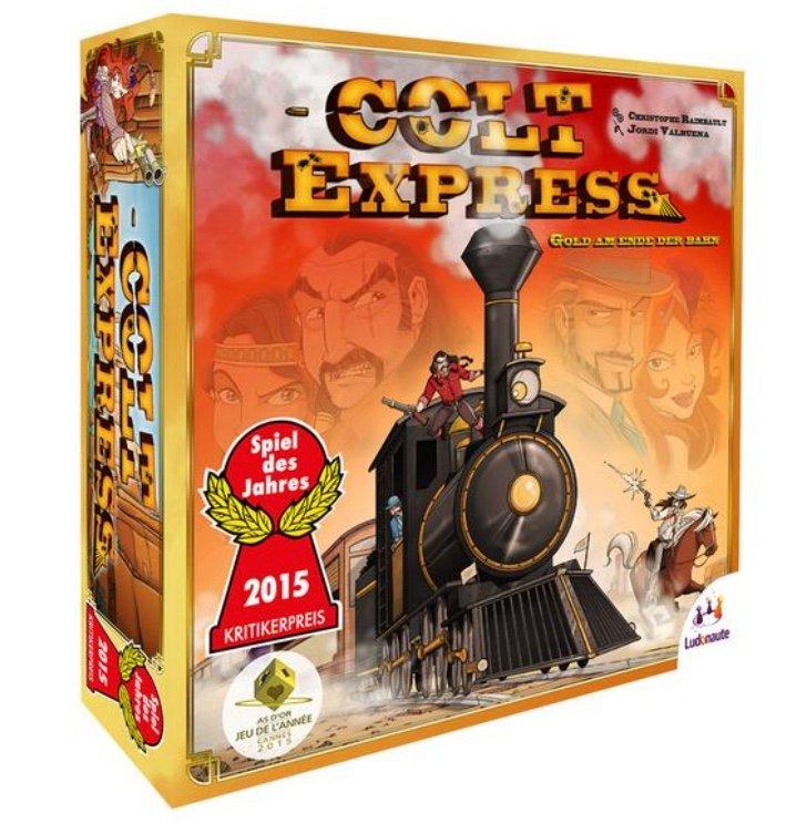 """Asmodee """"Colt Express"""" (Spiel des Jahres 2015) für 15,74€ inkl. Versand (statt 21€) - Thalia Club!"""