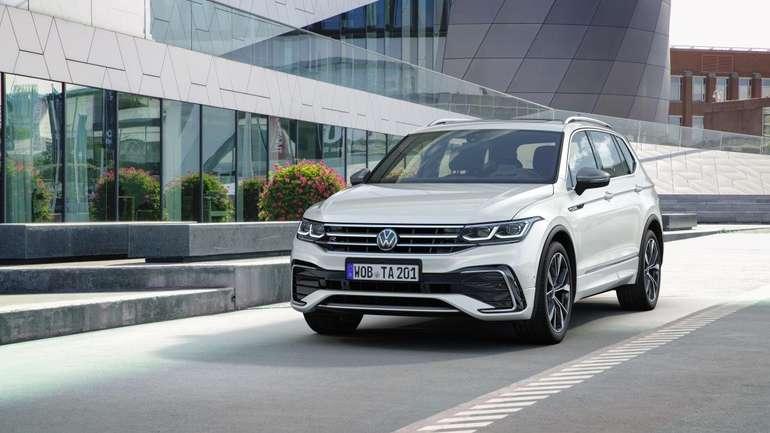 Privat+Gewerbe: Volkswagen Tiguan Allspace R-Line 2.0 TDI für 345€ mtl. (ÜF: 749€, LF: 0,66)