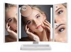 Anjou - Beleuchteter LED-Kosmetikspiegel mit Akku (Laden über USB) für 14,99€