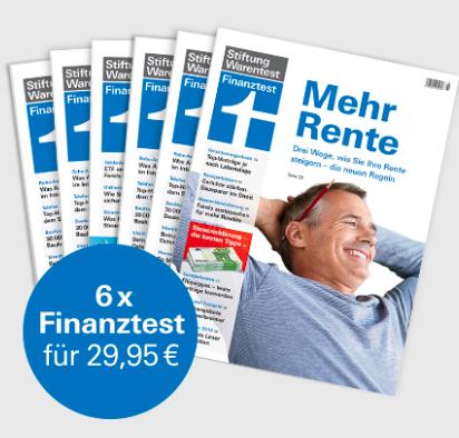 """6 Ausgaben Finanztest für 29,95€ + Buch """"Alles über Fonds"""" + Notizbuch!"""