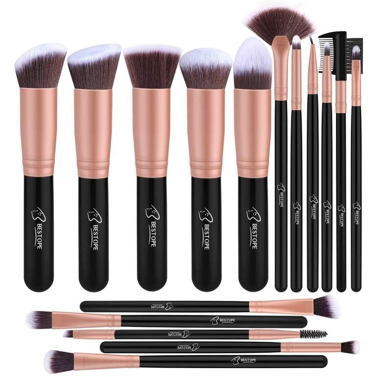 Bestope - 16-teiliges Make-up Pinsel Set für 6,07€ inkl. Prime Versand