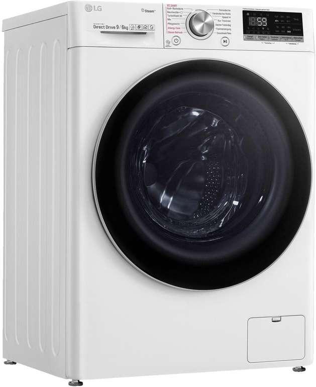 LG V7WD906A Waschtrockner (9 kg/6 kg, 1370 U/Min.) für 599€ (statt 728€)