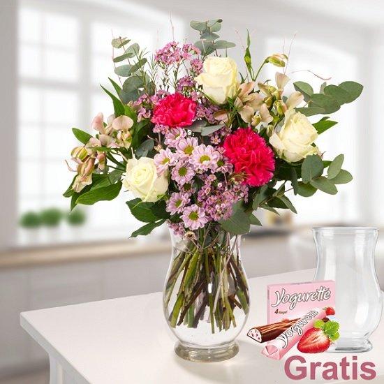 """Floraprima: 20% Rabatt auf Blumen zum Muttertag, z.B. Strauß """"Du bist die Beste"""" für 23,58€"""