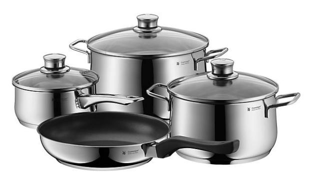"WMF Edelstahl Topf-Set ""Diadem Plus"" (4-tlg) in Silber für 88,94€inkl. Versand (statt 112€)"