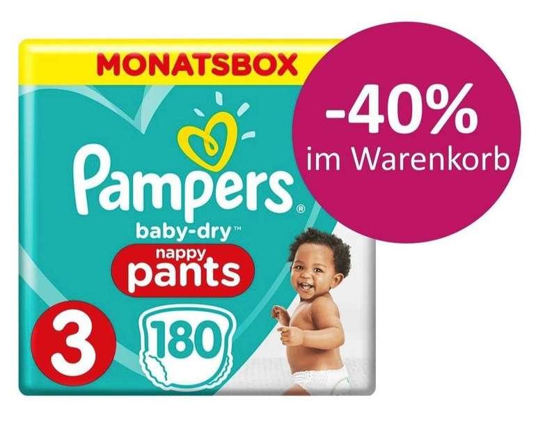 Windeln.de: 40% Rabatt auf Pampers Baby Dry Pants, z.B. Größe 3 (180 St.) für 21,19€