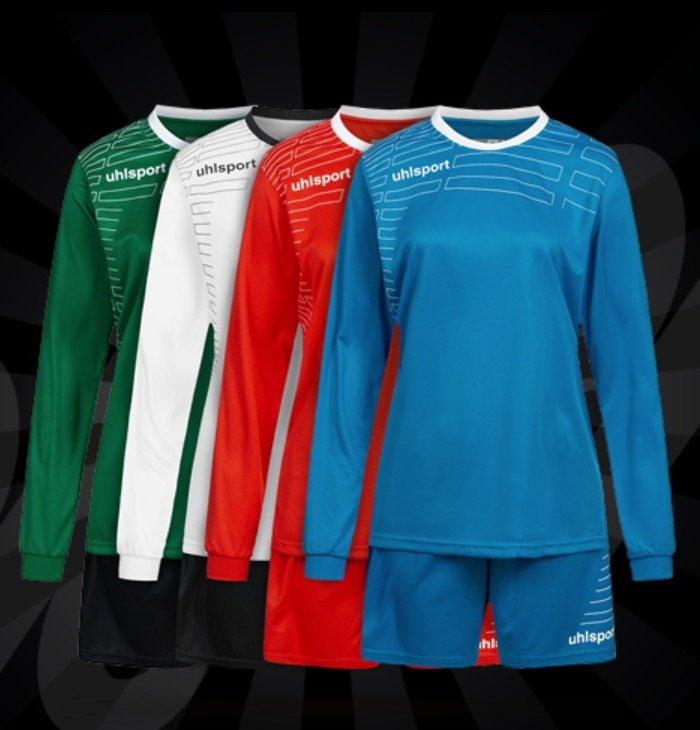 Uhlsport Match Damen Set - Langarm Trikot mit Shorts ab 6,17€ inkl. Versand (statt 12€)