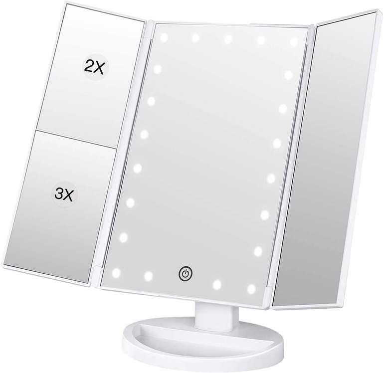 Bestope faltbarer Schminkspiegel mit 21 LEDs für 6,30€ inkl. Prime Versand (statt 10€)
