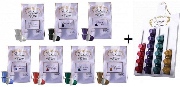 Probierpaket: 140 Kapseln Celeste d'Oro für 29,99€ (Nespresso kompatibel)